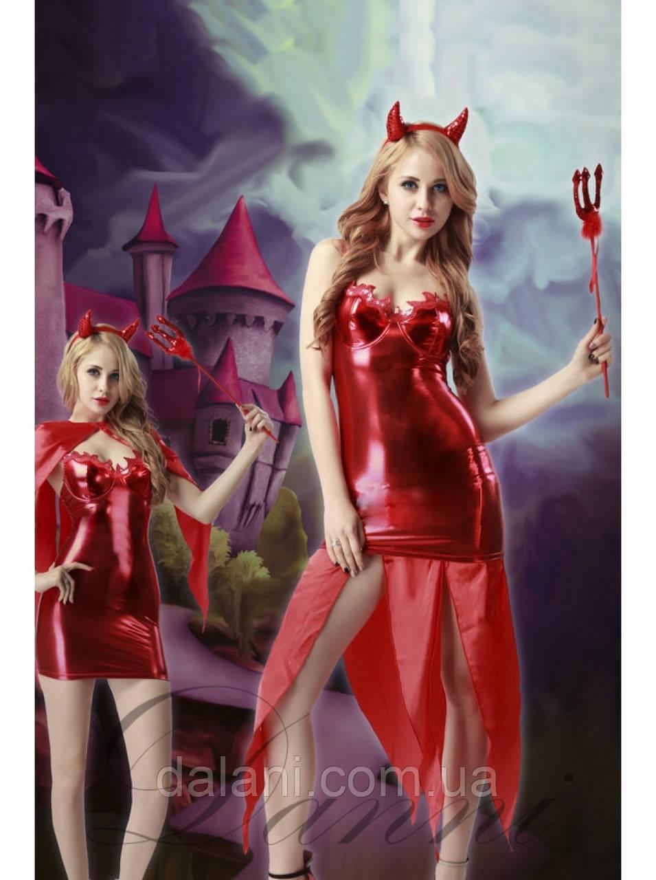 Маскарадный красный костюм дъяволицы