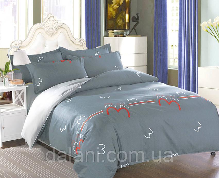 Полуторный комплект постельного белья из сатина