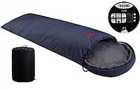 Спальный мешок Vulkan Micro меланж синий Спальник туристический Мешок спальный походный Спальник одеяло