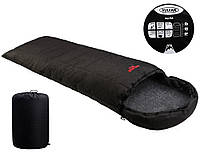 Спальный мешок Vulkan Micro меланж черный Спальник туристический Мешок спальный походный
