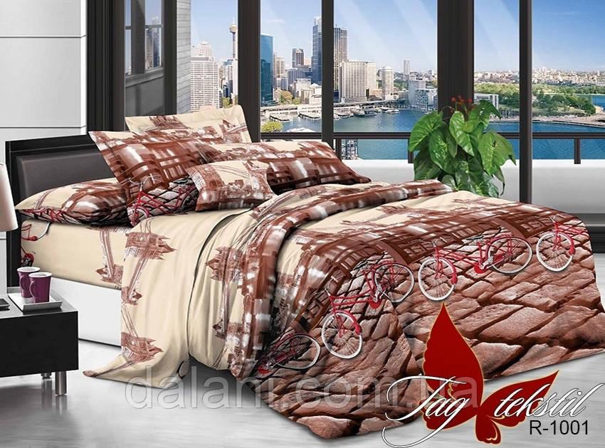 Двуспальный коричневый комплект постельного белья из ренфорса