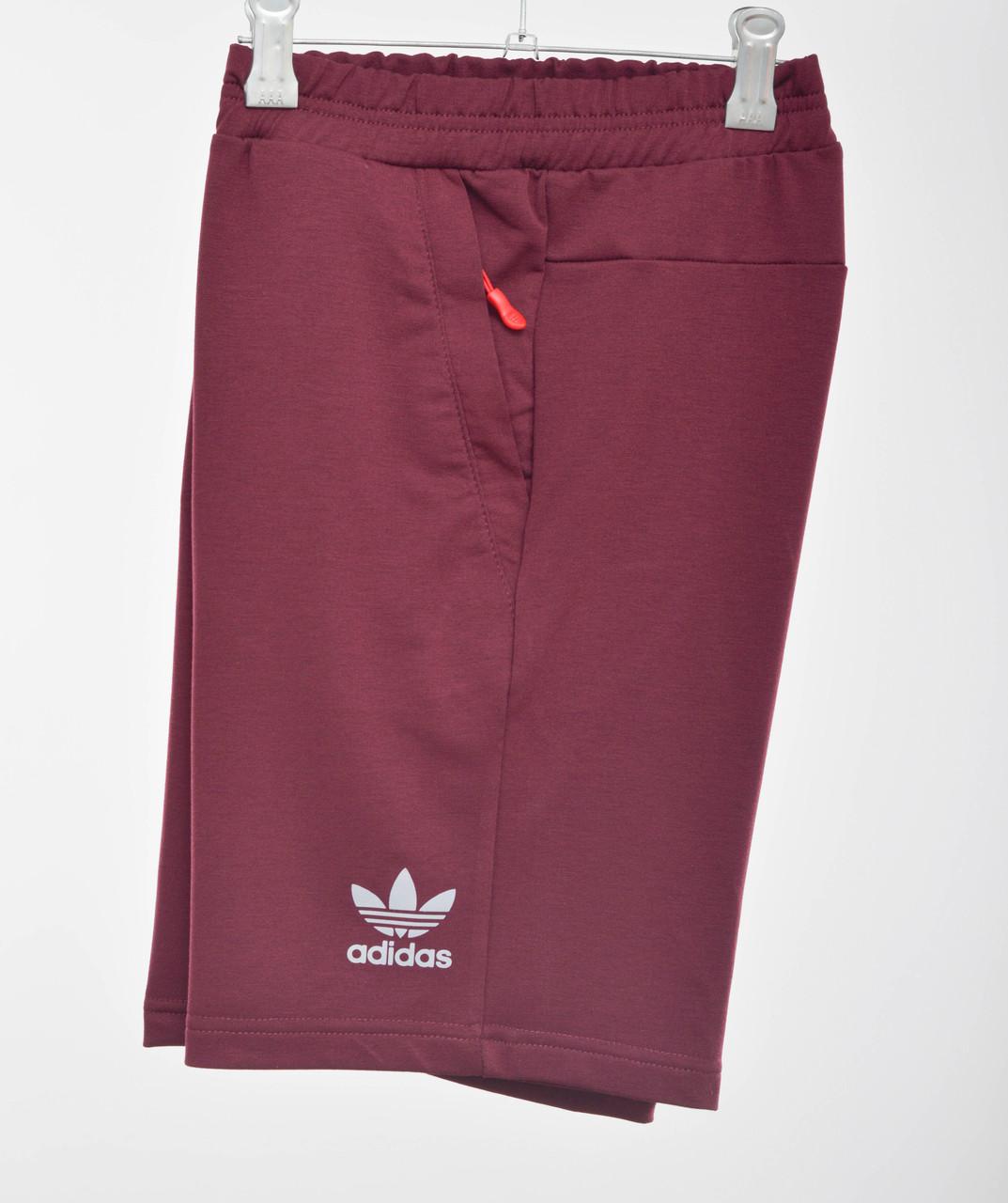 Трикотажные шорты Adidas 3030 (отражайка) Бордо