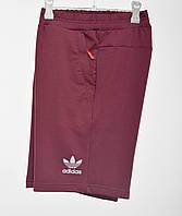 Трикотажные шорты Adidas 3030 (отражайка) Бордо, фото 1