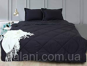 Постельный черный набор из одеяла, простыни и наволочек