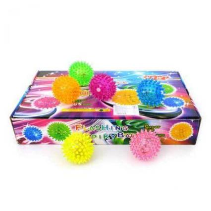 М'яч-їжачок з світ. ефект. (коробка) 3388Р р.26,5х7 см./288/ 3388P