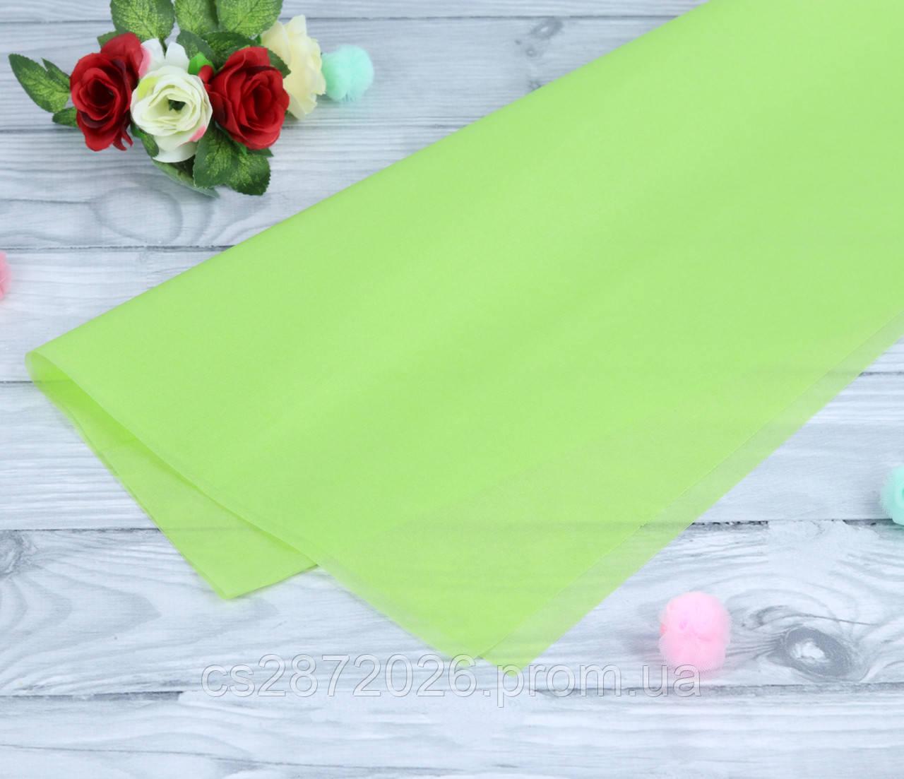 Бумага тишью (папиросная),салатовая.