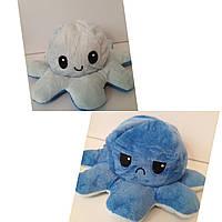 Осьминог-перевёртыш плюшевая игрушка двухсторонняя, цвет голубой/синий