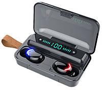 Беспроводные наушники F9-5 Bluetooth HD Stereo / Сенсорные наушники с кейсом зарядки Power bank