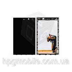 Дисплейный модуль (дисплей + сенсор) Blackberry Z10, с рамкой, черный, оригинал