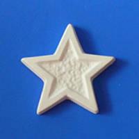 Звезда / Барельеф для Раскрашивания / Гипс 5 см