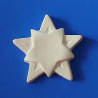 Звезда Двойная / Барельеф для Раскрашивания / Гипс 5 см