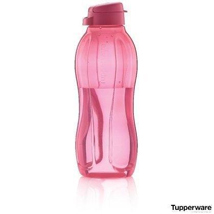 Бутылка Tupperware 1,5 л розовая с клапаном