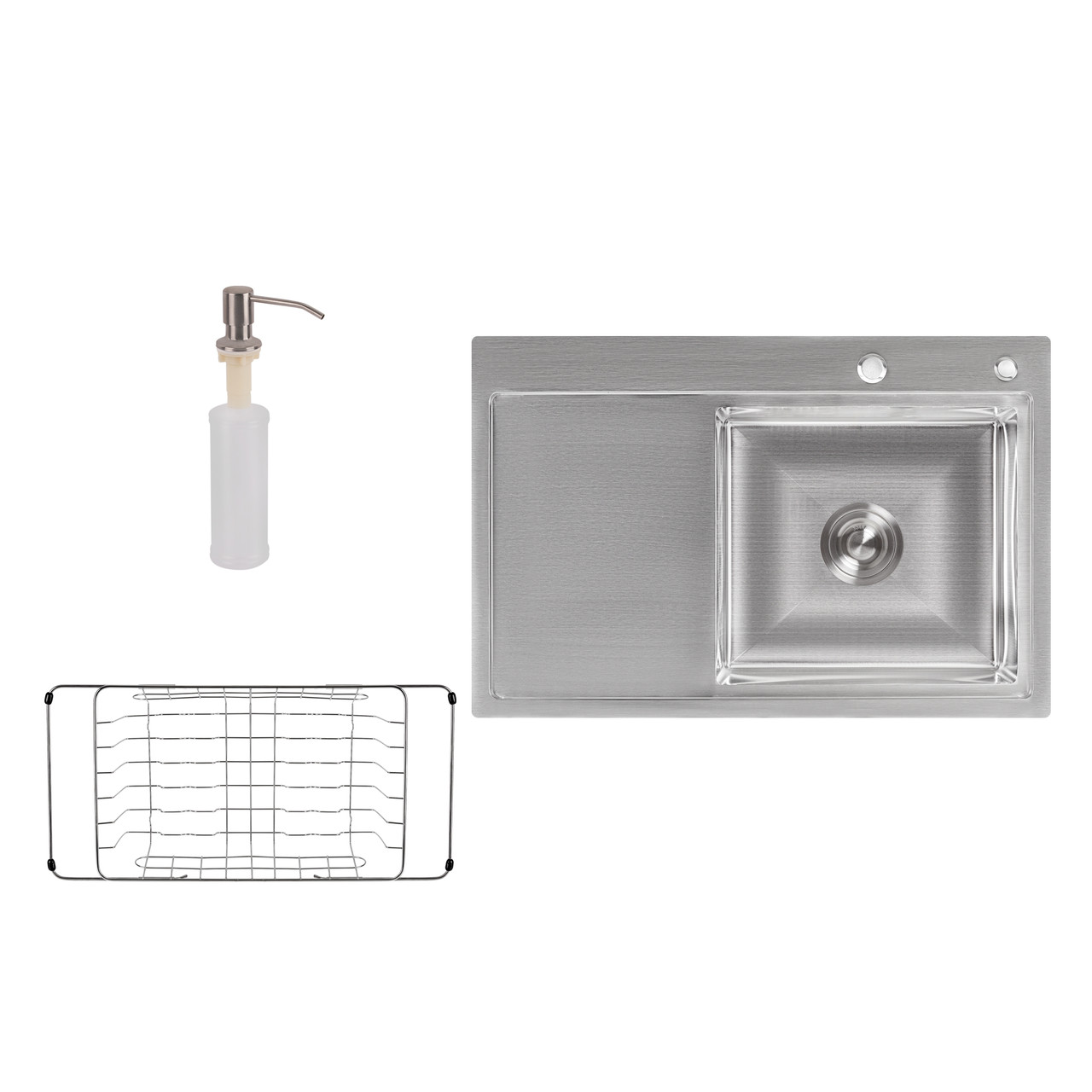 Мойка для кухни Lidz H7851R Brush 3.0/0.8 мм из нержавеющей стали