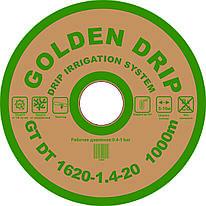 Капельная лента GOLDEN DRIP с плоским эмиттером 20см 1000м 8 mil
