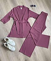 """Штаны трикотажные прямого пошива """"Рондо"""" в фиолетовом цвете"""