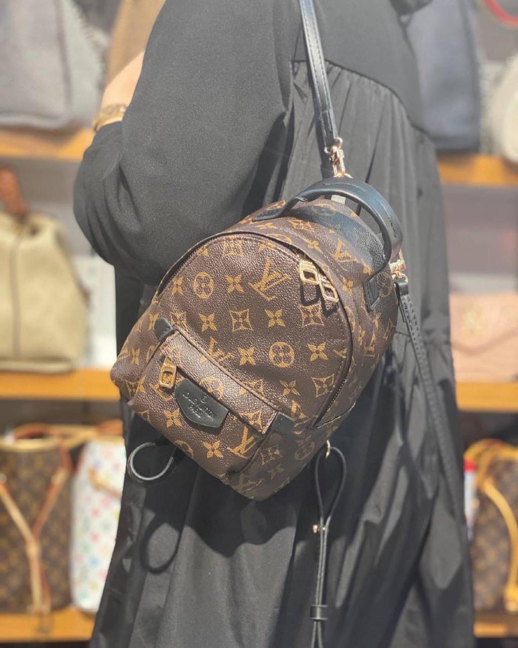 Жіночий міні рюкзак Louis Vuitton/маленький жіночий рюкзак/коричневий рюкзак луї вітон (люкс копія)