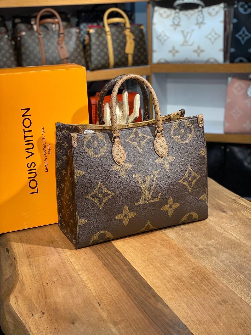Сумка женская Louis Vuitton\двухстороняя\натуральня канва\сумка в стиле луи витон (люкс копия)