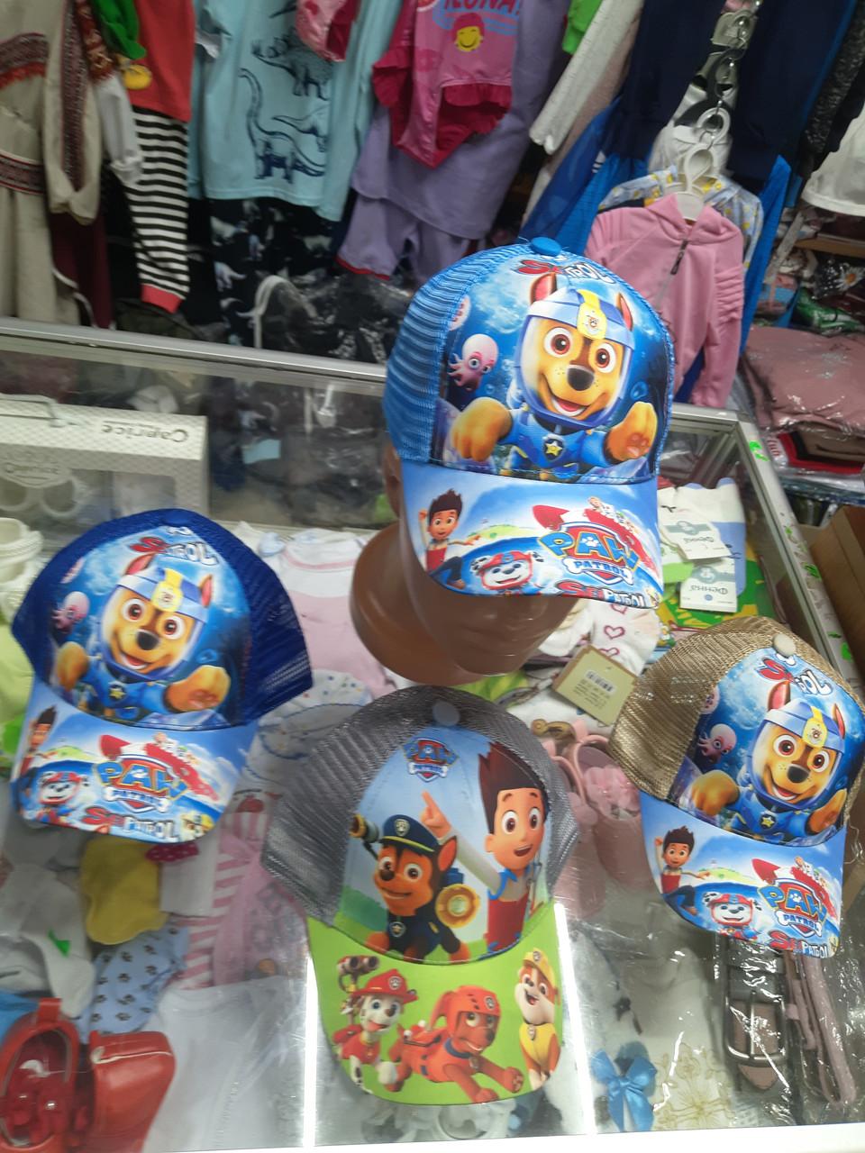 Детская хлопковая кепка бейсболка Щенячий патруль р.48 50