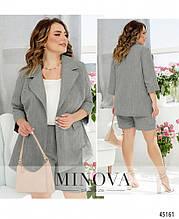 Женский костюм №1021-Серый