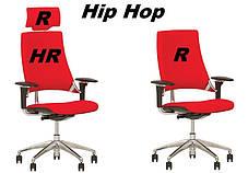 Крісло офісне Hip Hop R HR пластик чорний хрестовина AL33, тканина CN-200 (Новий Стиль ТМ), фото 3