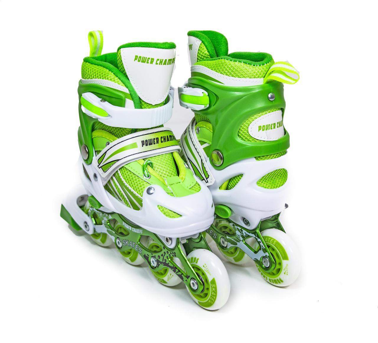 Ролики Power Champs Green размер 34-37