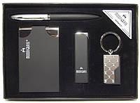 Подарочный набор MOONGRASS (ручка + брелок + визитница + зажигалка)
