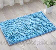 Коврик в ванную комнату лапша голубой 48 x 60 см