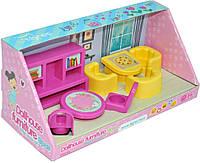 Мебель для кукол, гостиная, набор 8 элементов. в кор. 30*13*13см, ТМ Wader