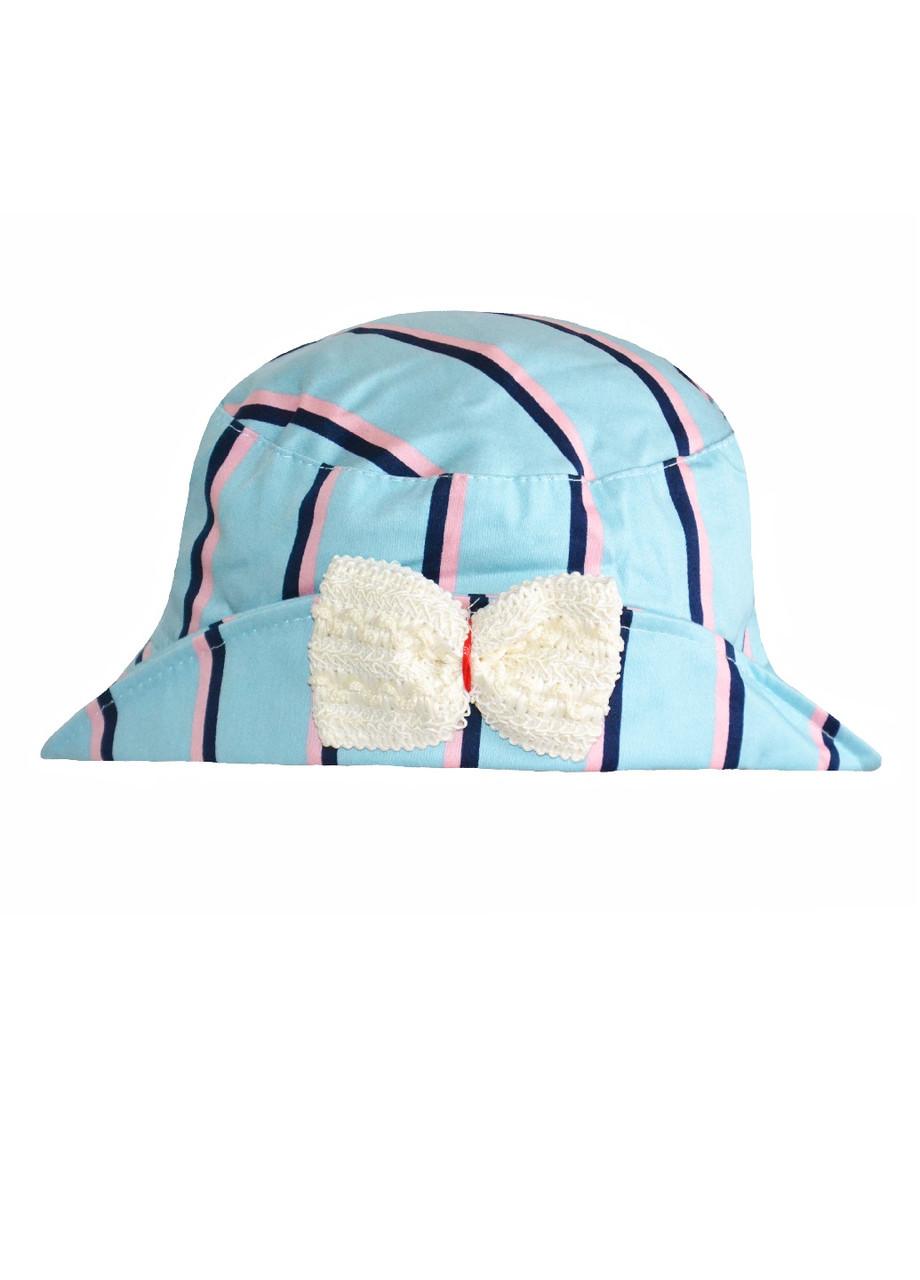 Панама шляпка на дівчинку літня в полоску