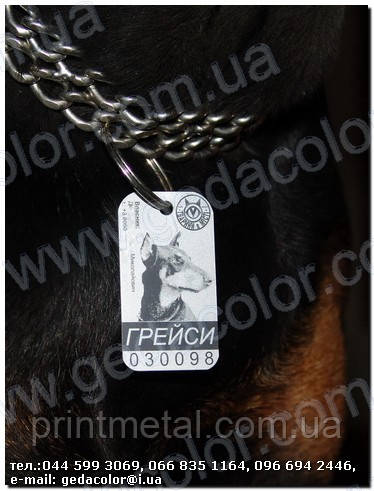 Жетоны для животных  dog tag - ООО Техносервис в Киеве