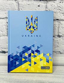 Блокнот А5 UKRAINE 96 л. Твердая обл. Клетка Голубой BM24511101-14Ф Buromax Украина