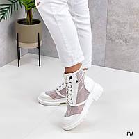Женские летние ботинки сеточка на платформе