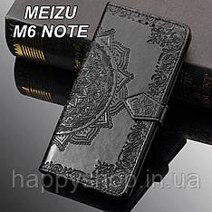 Чехол-книжка с визитницей для Meizu M6 note (Черный)
