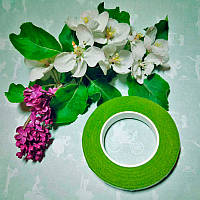 Тейп лента зеленый оливковый, толщина 10 мм, длина 10 м