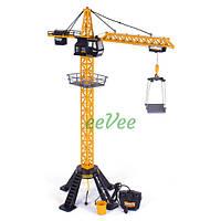 Игрушечный подъемный кран на пульте управления башенный большой 90 см детский Желтый (29414)