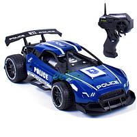 Машинка на радиоуправлении полицейская гоночная спортивная металлическая детская Police 911 Синяя (37987)