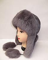 "Женская зимняя шапка-ушанка ""Кролик №18"""