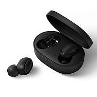 Беспроводные наушники Bluetooth A6S MiPods. Вакуумные блютуз наушники с кейсом зарядки. Наушники с микрофоном
