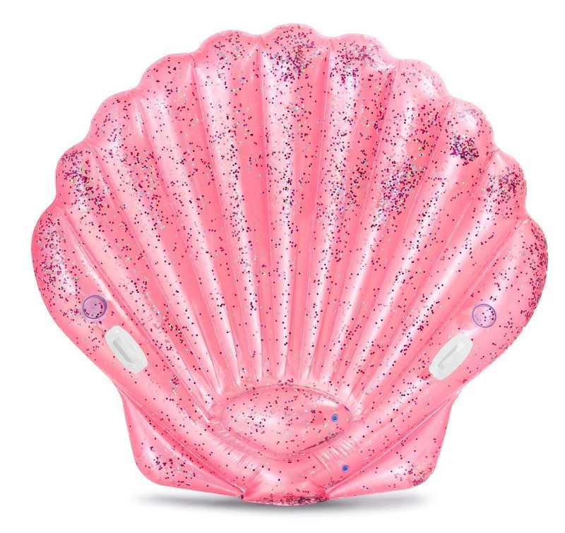 """Intex Дитячий надувний пліт 57257 EU """"Рожева мушля"""" (3) розмір 178х165х24см, від 6-ти років"""