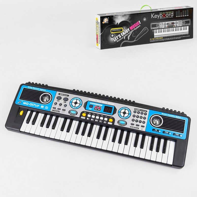 Піаніно MQ 017 UF (18/2) працює від батарейок і від мережі 220 V, мікрофон, FM Radio, в коробці