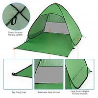 Пляжная палатка самораскладная двухместная с защитой от ультрафиолета + Чехол 165*150*110 см, фото 1