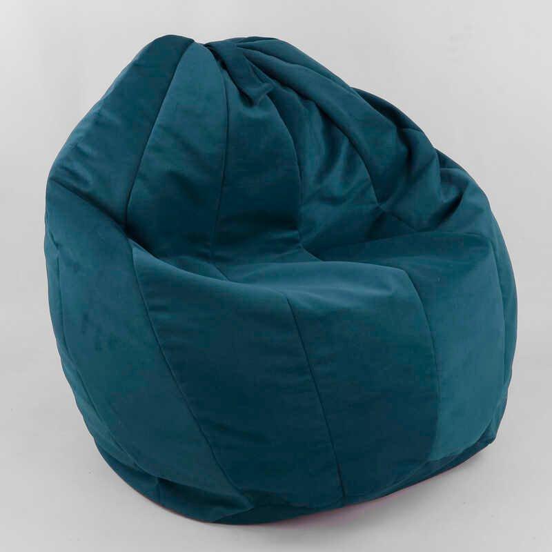 """Гр Кресло-мешок """"Груша"""" пенополистероловый шарик, ткань велюр - цвет темно-бирюзовый ТМ Алекс"""