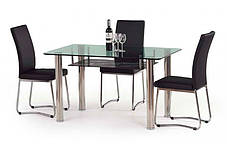 Стол стеклянный обеденный Lenart (Halmar ТМ), фото 2