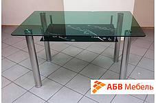 Стол стеклянный обеденный Lenart (Halmar ТМ), фото 3