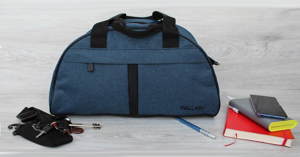 Спортивна Сумка синього кольору для чоловіків і жінок (213сн)