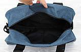 Спортивна Сумка синього кольору для чоловіків і жінок (213сн), фото 2