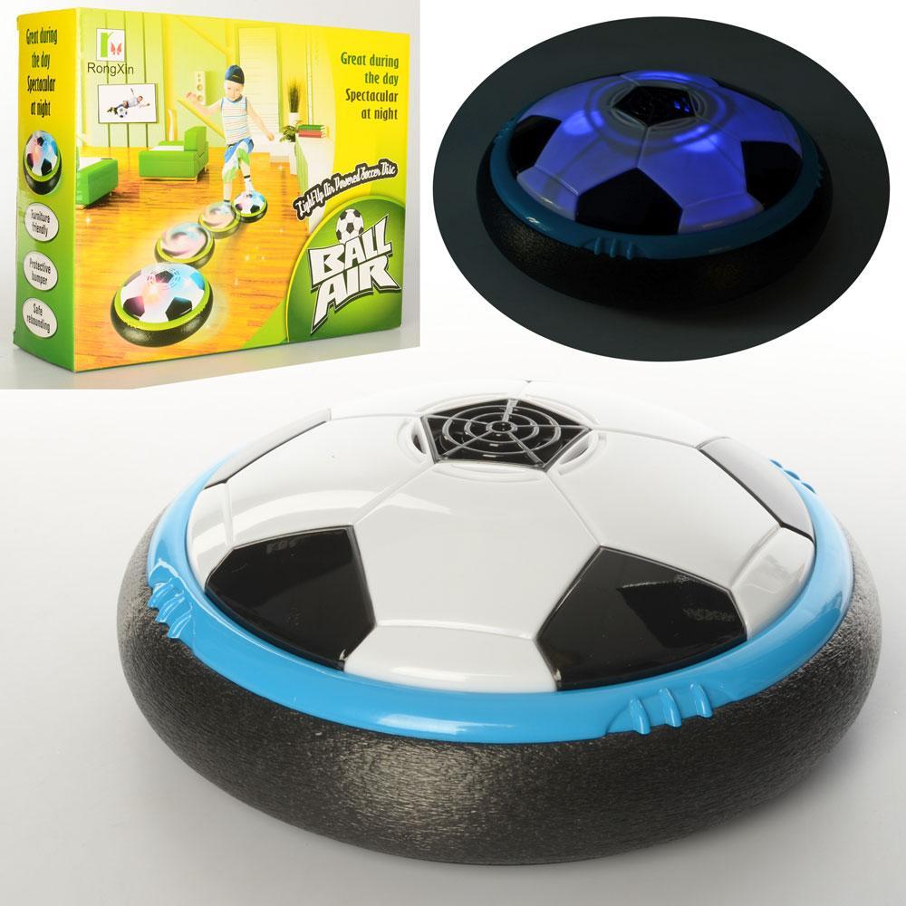 Игра M 5428  футбол, аэромяч, 21см, свет, на бат-ке, в кор-ке, 27,5-22-8,5см