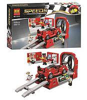 """Конструктор Bela Speeds 10781 (18) """"Пит-стоп"""", 526 деталей, в коробке"""