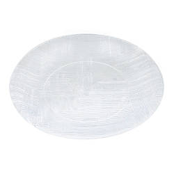 Тарілка склопластик прозора 20см GS-030 (120шт)