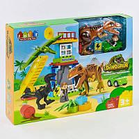 """Конструктор JDLT 5409 (12/2) """"Динозавры"""", 43 детали, в коробке"""